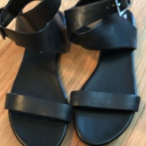 Leather ankle strap sandals.. New without tags!